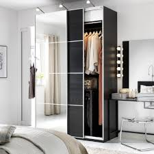 ikea bedroom cabinets. Delighful Ikea A White Bedroom With A Dark PAX Wardrobe Combination Mix Of  Wood And To Ikea Bedroom Cabinets R