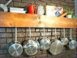 hanging pots and pans on wall diy pot pan rack storage saucepan copper p