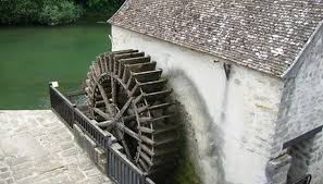 water wheels can be used on a small scale to generate electricity