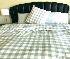 plaid flannel duvet cover red