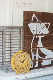 Pallet Art Fox Pallet Art