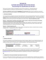 Resume For Customs And Border Protection Officer Cbp Officer Resume Rome Fontanacountryinn Com
