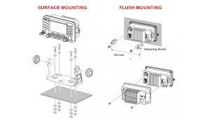 standard horizon gx1700e compact fixed vhf and gps standard