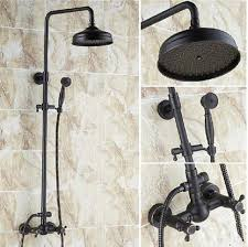 whole and retail wall mounted oil rubbed bronze 8 rain shower head shower valve hand shower set solid brass faucet with 241 6 piece on