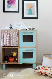 Kids Kitchen Furniture Remodelaholic Cute Easy Kids Play Kitchen From A Cube Shelf