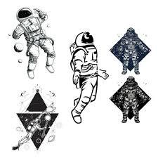 Astronaut Planety Dočasné Tetování Nálepka Vodotěsné Muži ženy