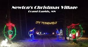 Mn Light Show Newtons Christmas Village Light Show In Grand Rapids