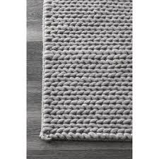 daring nuloom runner rugs nuloom handmade chunky braided light grey wool rug 2 6 x 8