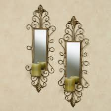 living room brilliant wall sconce candle set of two wall