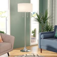 Floor lamps in living room Grey Quickview Wayfair Wicker Floor Lamp Wayfair