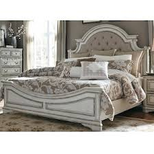 Magnolia Manor 4 Piece King Bedroom Set in Antique White