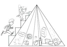New Food Pyramid Coloring Page And Printable Food Pyramid Coloring
