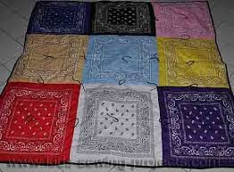 Best 25+ Bandana blanket ideas on Pinterest   Quilts for kids ... & Sewing a bandanna quilt makes for an easy picnic blanket or beach blanket  when using ready Adamdwight.com