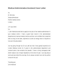 Cover Letter For Office Assistant Inspiration Office Cover Letter Medical Administration Administrative Assistant