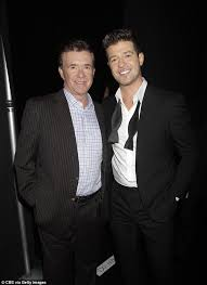 robin thicke 1990s.  Thicke Alan Thicke Left Pictured With His Son Singer Robin Last Tuesday On 1990s