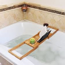 home graceful bathtub storage 28 bamboo bath tub shower tray holder adjule book smartphone shelf hotel