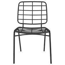 bloomingville metal chair black  living and co