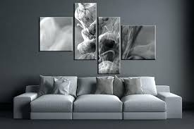 grey and white wall art 4 piece huge pictures living room multi panel canvas modern canvas