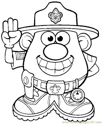 Small Picture Mr Potato Head 007 Coloring Page Free Mister Potato Coloring