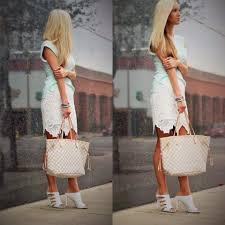 louis vuitton neverfull white. brittney - louis vuitton neverfull mm, guess? white mules pastel \u0026 lace | lookbook