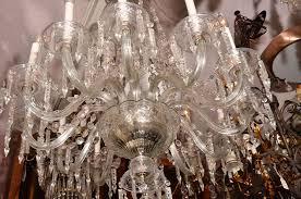 czechoslovakian crystal chandelier for 6