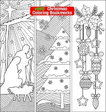 Looking for a few more fabulous 12 free printable coloring pages for adults…enjoy them! Three Christmas Coloring Bookmarks Ricldp Artworks