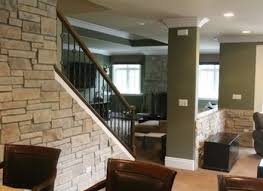 stone fireplace wall w crown molding home decorating