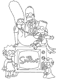 Simpsons Bart Homer Marge Lisa 4 Coloriage Simpsons Coloriages Dessin De Lisa Simpson A Colorier L