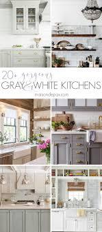 20 Gorgeous Gray And White Kitchens Maison De Pax