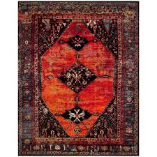 safavieh vintage hamadan orange multi 8 ft x 10 ft area rug vth217b 8 the home depot