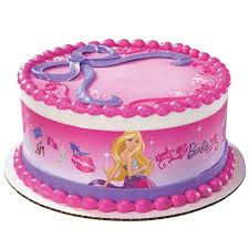 Amazoncom Barbie Fabulous Designer Prints Edible Cake Image Toys