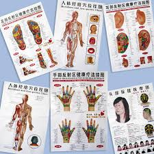 Baixingl 7 Sheets Body Acupuncture Meridian Acupressure Points Posters Chart Wall Map