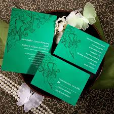 online cheap orchid green wedding invite ewi076 as low as $0 94 Wedding Invitation Blue And Green discount orchid shamrock green spring wedding card wedding invitation blue green motif