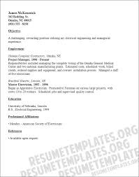 Master electrician resume template engineering sample for Master resume  template .