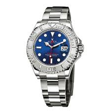 rolex yachtmaster steel and platinum blue dial mens watch prev