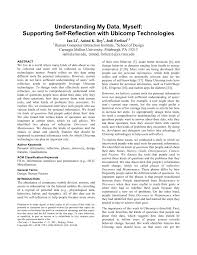 What is a self reflective essay? Pdf Understanding My Data Myself Supporting Self Reflection With Ubicomp Technologies