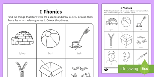 A collection of english esl worksheets for home learning, online practice, distance learning and english classes to teach about phonics, phonics. I Words Worksheet Twinkl Phonics Teacher Made