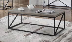 black finish metal frame coffee table