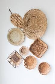 set of 8 wall hanging baskets vintage