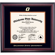 oklahoma state school color traditional for veterinary diploma  oklahoma state school color traditional for veterinary diploma frame