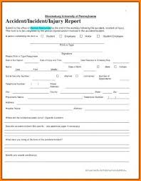 Incident Report Form Templates Medical Template Staggering