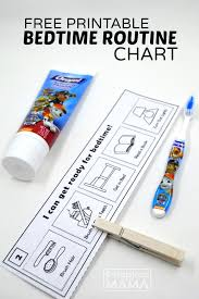 Free Printable Bedtime Chart Read2me Tonight Challenge Free Printable Bedtime Routine Chart