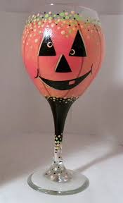 pumpkin wine glass
