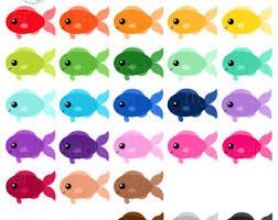 cute fish clip art.  Art Rainbow Fish Clipart Set  Clip Art Set Of Fish Cute Happy  Rainbow Personal Use Small Commercial Instant Download Inside Cute Clip Art