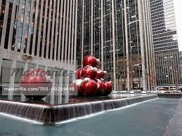 Christbaumschmuck Von Brunnen Manhattan New York Usa