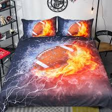 rugby with flame pattern bedding set quilt duvet cover sets bedclothes bed pillowcase pillow case for kids bedroom quilt sets queen bedding collection from