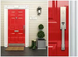 Models Front Door Hardware Brushed Nickel London Handleset In Satin Finish Throughout Design