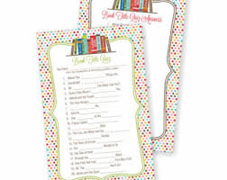 Bookthemed Baby Shower Brunch  See Jamie BlogLibrary Themed Baby Shower Invitations