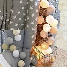 Anferstore String Lights,2 Meters 20 <b>LED Cotton Ball String</b> Lights ...
