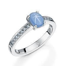 star sapphire and diamond ring